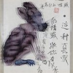Chen-Chunmu-Lifes-Fluidity-Rabbit-Acrylic-on-Paper-40.5-x-40.5-cm-2014-生活随笔-(兔儿)-亚克力油彩1