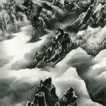 Liu-Kuo-sung云與山的游戲-Clouds-and-Mountains-in-Play-紙本水墨設色-Ink-and-colour-on-paper-346-x-183cm-19931