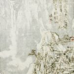 Wang-TiandeHOU-SHAN2015Chinese-ink-with-burn-marks-on-layered-rice-paper185x38cm