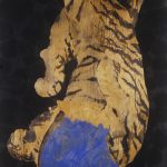 Ye-Linghan_Gold.Circle.Tiger-14_mixed-media-on-Paper_2014_210x110cm