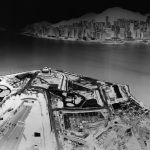 To see Hong Kong Island from Kowloon July 15-16 2016 Unique Camera Obscura Gelatin Silver Print 231x121 cm