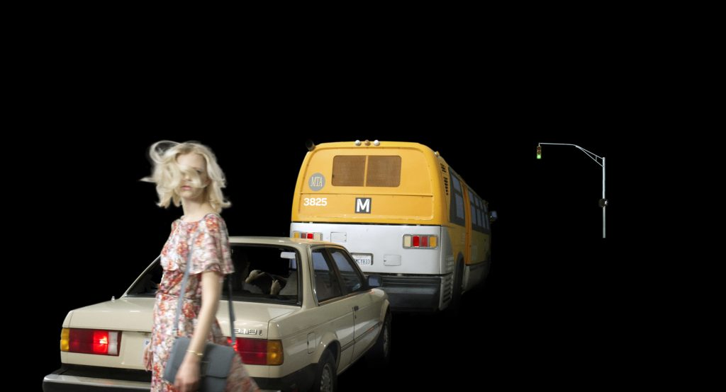 Hawkins Street, 2017, archival pigment print, 12.97 x 24 inches (print), 32.9 x 61 cm. Courtesy of Alex Prager Studio and Lehmann Maupin, New York and Hong Kong.
