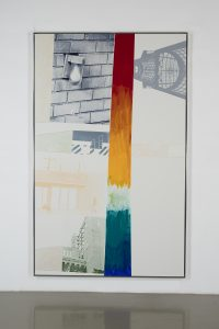 "Rober Rauschenberg,  Escort (Vydock), 1995,   acrylic and graphite on bonded aluminum,   97"" × 60-3/4"" (246.4 cm × 154.3 cm),   PAINTING,   No. 69514,   Alt # 95.048    Format of original photography: high res tiff"