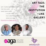 Art Talk- The Institution-Like Gallery