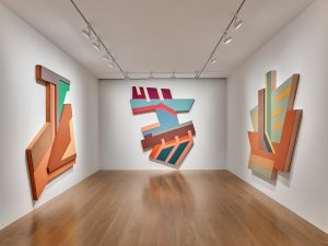 Installation view, American Master. Frank Stella: Polish Villages, Lévy Gorvy, Hong Kong, 2019. Photo: Kitmin Lee.