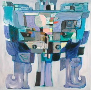 Revelation of Bronze-Blue (1989). Acrylic on canvas. 88.5 x 91.5 cm.
