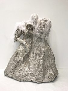 HK-NIKI-02, The Bride, Polished bronze, palladium, silver plated parts, 200x200x82cm, 1965-1992